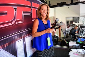 Beth Mowins' career started in Syracuse with a Mr. Microphone. Years later, she'll be giving play by play to millions of viewers on Monday night.