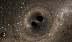 Black holes can be identified by looking at the bodies, such as gas or stars, orbiting around them.